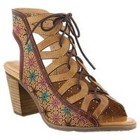 L'Artiste by Spring Step Women's Laure Cage Shoe Beige Leather