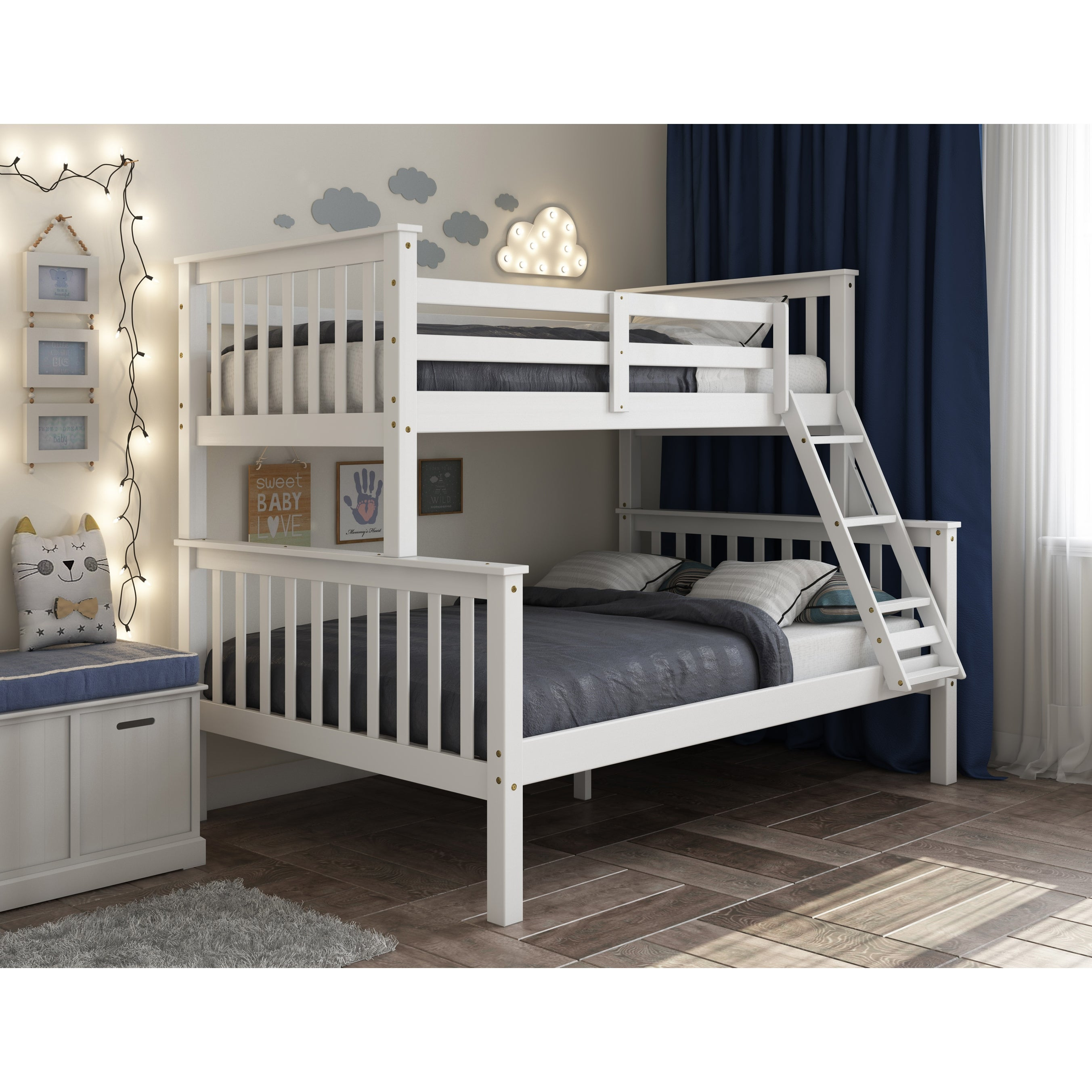Picture of: Mission Solid Pine Twin Over Full Bunk Bed By Palace Imports Overstock 21723199