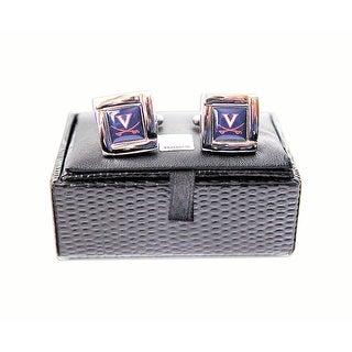 NCAA Virginia Cavaliers Square Cufflinks with Square Shape Logo Design Gift Box Set