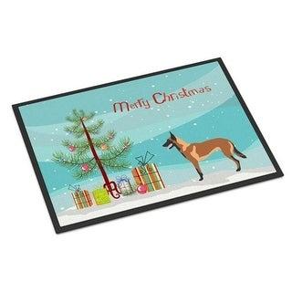 Carolines Treasures BB8494JMAT Malinois Belgian Shepherd Christmas Indoor or Outdoor Mat 24 x 36 in.