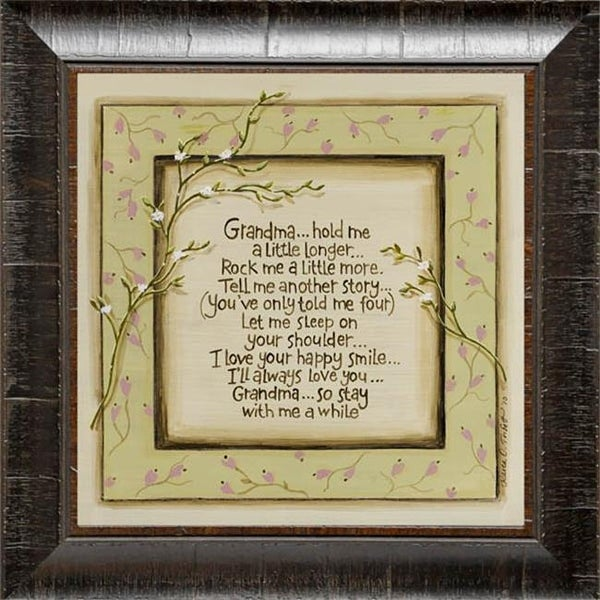 Karens Art And Frame 12 X 12 Grandma Hold Me
