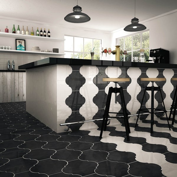 """SomerTile Mare Nostrum Provenzal Ibiza 10.38"""" x 11.38"""" Porcelain Floor and Wall Tile. Opens flyout."""