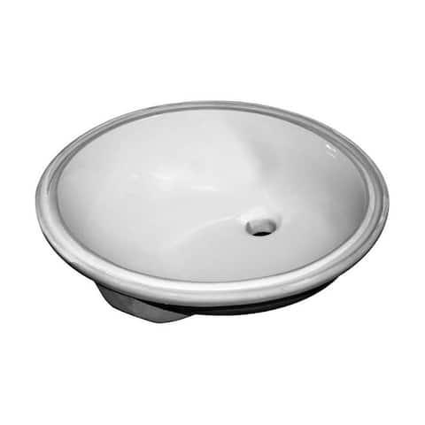 "Sloan SS-3001 19-1/2"" Undermount Bathroom Sink with Overflow"