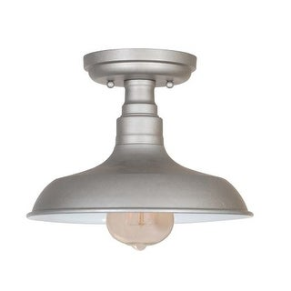 Design House 519876 Kimball 1 Light Dimmable Semi-Flush Ceiling Fixture in Galvanized Finish