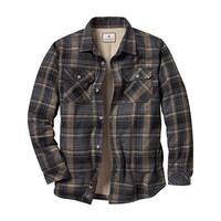 Legendary Whitetails Men's Deer Camp Fleece Lined Button Down Shirt Jac