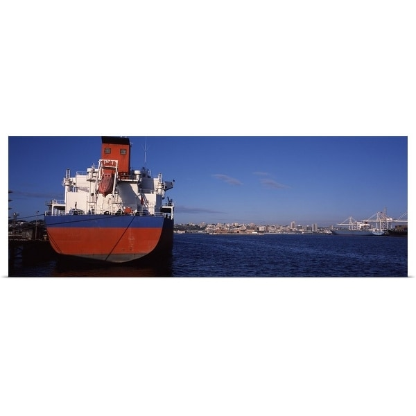 Shop Poster Print entitled Container ship moored at a harbor