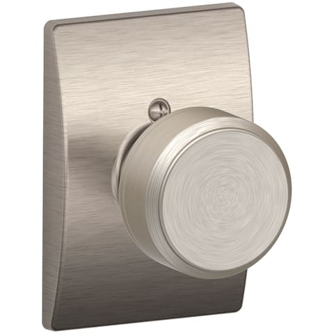 Schlage F170-BWE-CEN Bowery Non-Turning One-Sided Dummy Door Knob with