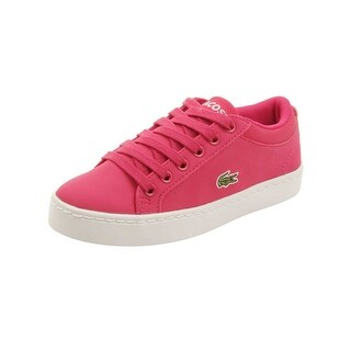 Lacoste Toddler Straightset Lace 316 Sneakers in Dark Pink
