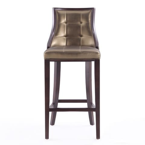 Ceets Modern and Sophisticated Leather and Beech Wood Fifth Avenue Bar or Counter Stool