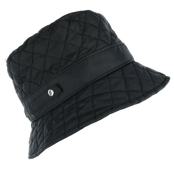 Shop CTM® Women s Packable Quilted Rain Bucket Hat - Free Shipping ... 5cbe6e90f
