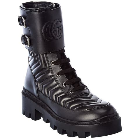 Gucci Interlocking G Leather Boot