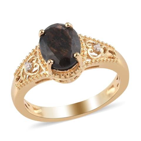 Shop LC 925 Silver Chocolate Sapphire Zircon Statement Ring Ct 2.4