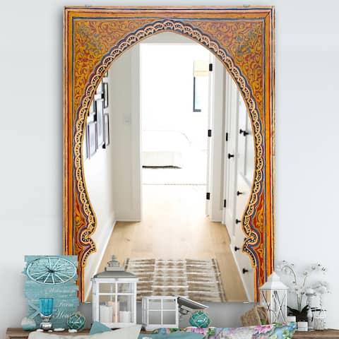 Designart 'Ancient Door Morroco' Traditional Mirror - Large Wall Mirror