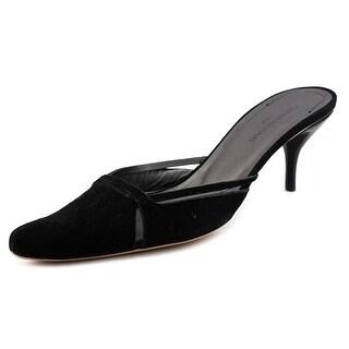 Costume National Deborah Women Pointed Toe Suede Black Mules