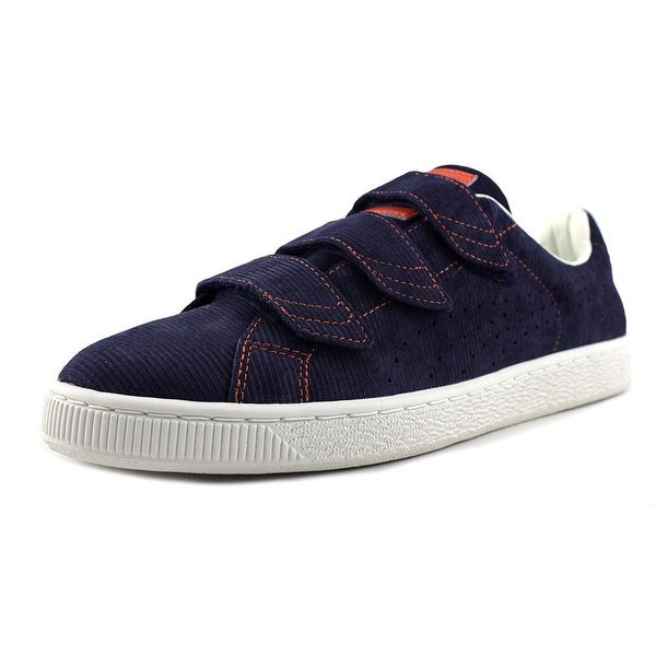 Puma Basket Strap Corduroy Men Peacoat Sneakers Shoes