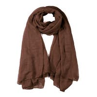 Soft Lightweight Long Scarves With Solid Color Shawl For Women Men Brown