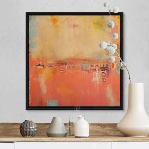 """Atomic Dream"" Black Float Frame Canvas Art"