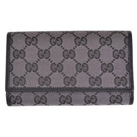 New Gucci 263114 Metallic Silver Grey Guccissima GG Logo Bifold Coin Wallet