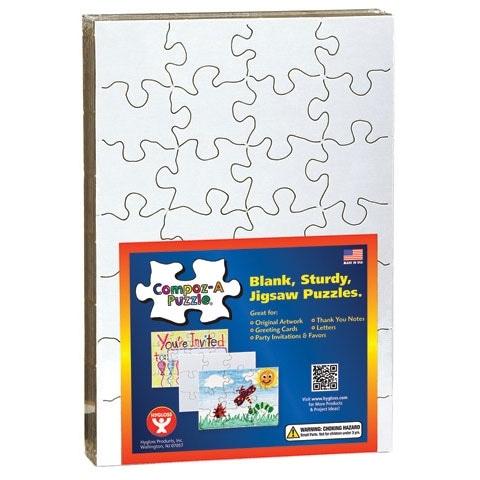 """Hygloss - Compoz-A-Puzzle - 5.5"""" x 8"""" - 12 Pieces"""