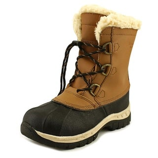Bearpaw Kelly Youth Youth Round Toe Leather Tan Snow Boot