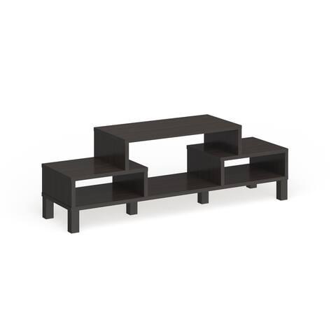 Furniture of America Rami Modern 60-inch Brown Wood Shelf TV Console