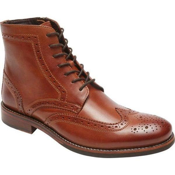 ca66496f0 Shop Rockport Men's Wyat Wingtip Boot Cognac Full Grain Leather ...