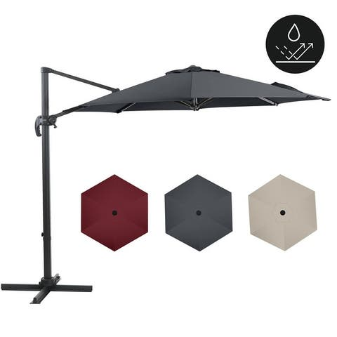 9.8ft Patio Umbrella Outdoor Umbrella for Garden, Lawn, Backyard