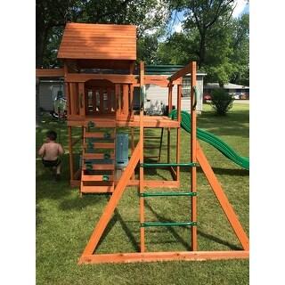 Backyard Discovery Monticello Cedar Swing Set Box 2 Of 2
