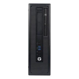 HP EliteDesk 705G1 Desktop Computer SFF AMD A4-7300B 3.8G 8GB DDR3 320G Windows 10 Pro 1 Year Warranty (Refurbished) - Black