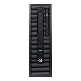 HP ProDesk 400G1 Desktop Computer SFF Intel Pentium G3420 3.2G 4GB DDR3 1TB Windows 10 Pro 1 Year Warranty (Refurbished) - Black