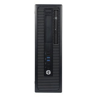 HP ProDesk 400G1 Desktop Computer SFF Intel Pentium G3420 3.2G 4GB DDR3 2TB Windows 10 Pro 1 Year Warranty (Refurbished) - Black