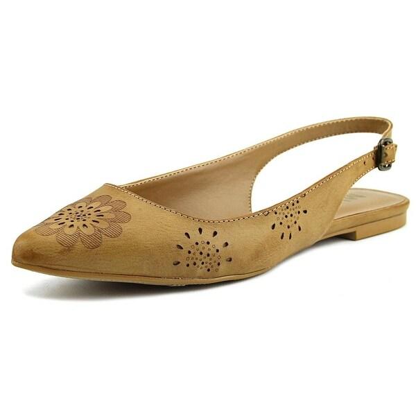 Mia Alannah Women Pointed Toe Synthetic Tan Flats
