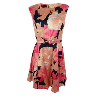 INC International Concepts Women's Floral Belted Dress - 6P