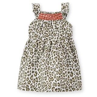 Carter's Baby Girl's Poplin Cheetah 2 Piece Dress Set