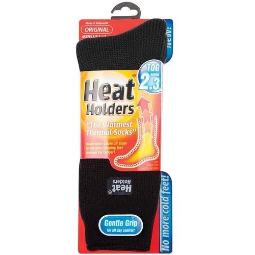 Heat Holders MHHORGBLK Mens Thermal Socks, Black