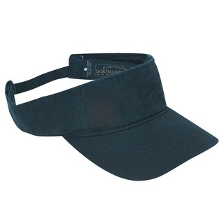 DPC Outdoor Design Cotton Washed Twill Visor Cap with Hook and Loop Closure - One Size