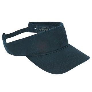 DPC Outdoor Design Cotton Washed Twill Visor Cap with Hook and Loop Closure