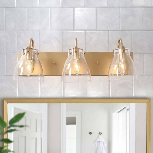 Glam 4 Lights Bathroom Vanity Lights Golden Wall Sconce For Powder Room L22 X H8 X E7 On Sale Overstock 29775386