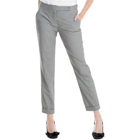 Max Studio London Womens Printed Straight-Leg Dress Pants