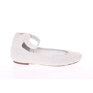 Dolce & Gabbana White Cotton Knitted Ballet Flats Shoes - 39