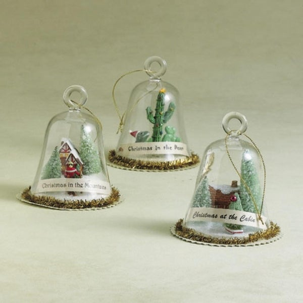 """4"""" Globe """"Christmas In The Mountains"""" Glass Ornament #922187"""