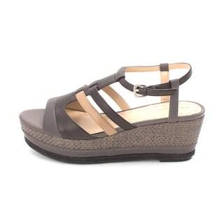 Tahari Womens jane Open Toe Ankle Strap Wedge Pumps