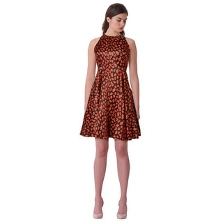 RED Isabel by Isabel Garcia Kiss Print Fit & Flare Cocktail Evening Party Dress - S