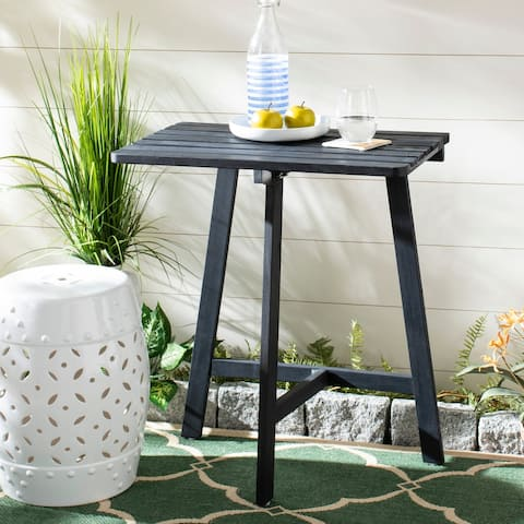 "SAFAVIEH Outdoor Living Benton Balcony Table - Dark Slate Gray - 23.6"" x 15.4"" x 38.4"""