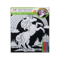 Multicraft Velvet Coloring Poster Unicorn