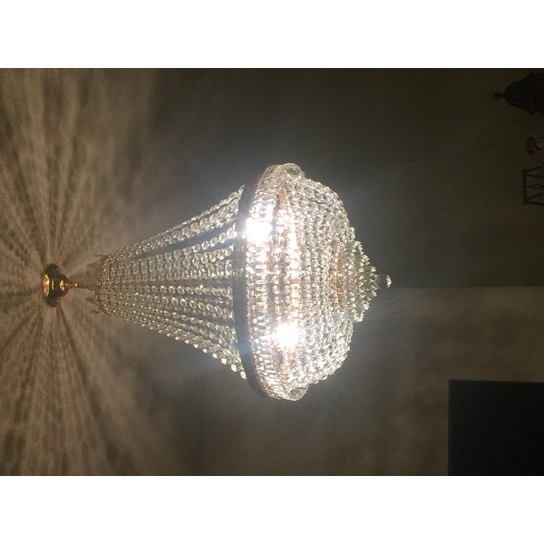 Gallery empire crystal 9 light chandelier free shipping today gallery empire crystal 9 light chandelier free shipping today overstock 13731607 aloadofball Image collections