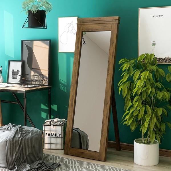 Furniture of America Leon Rustic Standing Floor Mirror. Opens flyout.