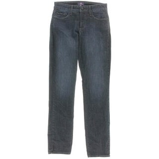 NYDJ Womens Sheri Denim Embellished Skinny Jeans - 0