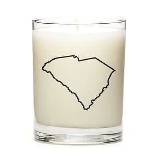 Custom Candles with the Map Outline South-Carolina, Fine Bourbon