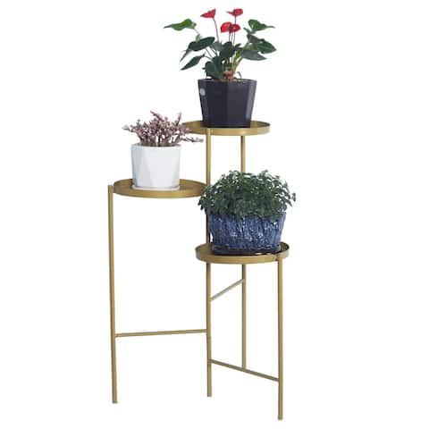 Tri-Level Metal Plant Stand Gold - 8' x 11'